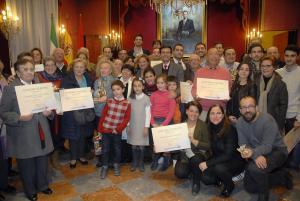 Acto de entrega de los premios en el Salón de Plenos del Ayuntamiento.