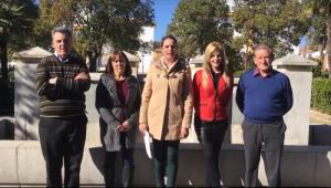 Carmen Cantero con su equipo de gobierno.