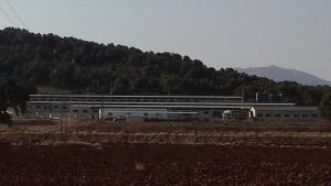 Instalación porcina en Castilléjar, al noreste de la provincia.