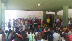 Una de las actividades en la escuela de verano de Granada, en Almanjáyar.