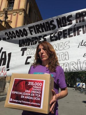 Patricia Cervera, este martes en Sevilla.