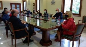 Reunión de la fiscal Superior de Andalucía con fiscales sicilianos.