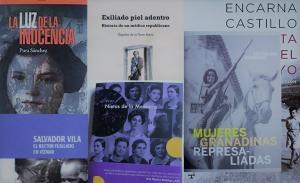 Composición con publicaciones de mujeres investigadoras de la Memoria Democrática.