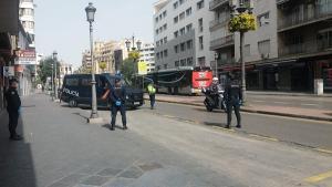 Control de la Policía Nacional durante el estado de alarma.