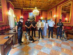 Recepción a la Unidad Canina de la Policía Local de Granada en el Ayuntamiento.