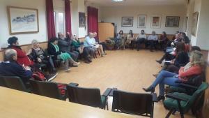 Participantes en las segundas 'Tertulias en la trinchera', sobre violencia de género.