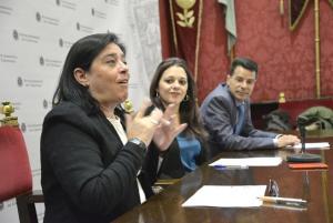 La presidenta de Asogra, Guadalupe Cuerva, en primer término.
