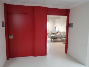 Una de las dependencias del hospital.