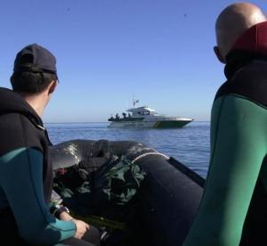 El rescate fue realizado por el Servicio Marítimo de la Guardia Civil.