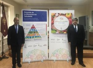 Presentación de la nueva pirámide de alimentación saludable.