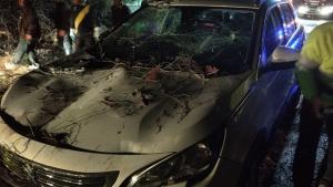 El vehículo afectado.