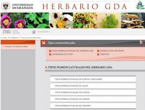 Página web del Herbario.