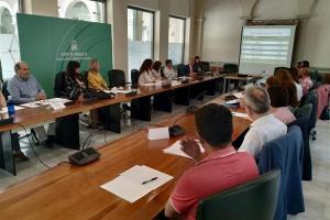 Reunión con responsables de los nuevos centros bilingües.