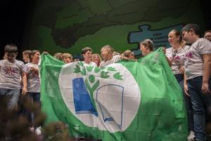 Entrega de las banderas verdes de Ecoescuelas.