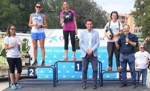 Entrega de premios en la categoría femenina.