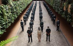 Los guardias en prácticas, en la Comandancia granadina.