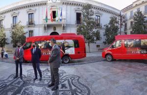 Presentación de los nuevos microbuses.