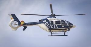 Helicóptero policial en una foto de archivo.