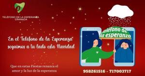 Cartel navideño del Teléfono de la Esperanza.