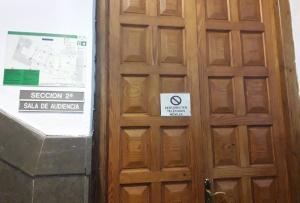 Sala de vistas de la Sección Segunda de la Audiencia de Granada