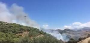 Imagen del incendio captada de un vídeo de la Policía Local de Granada.