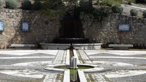 Fuente en el Parque de Alfacar dedicado a Federico García Lorca.