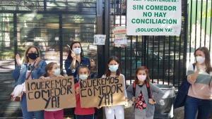 Imagen de archivo de las protestas en el CEIP Fuentenueva.