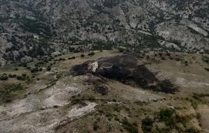 Superficie afectada por el incendio, el pasado 24 de junio en Gor.