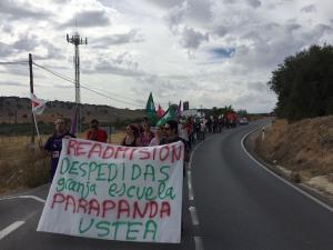 Imagen de la marcha entre Alomartes e Íllora.