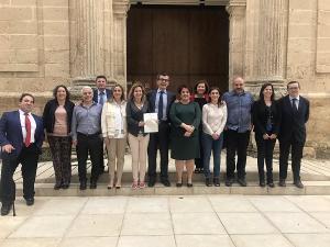 Los parlamentarios granadinos tras la aprobación de la declaración institucional.
