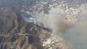 Imagen área de la zona en la que se ha declarado el incendio.