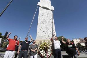 Imagen de uno de los homenajes a los obreros asesinados en la huelga del 70.