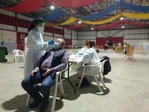 Imagen de los test que se llevaron a cabo en la localidad.