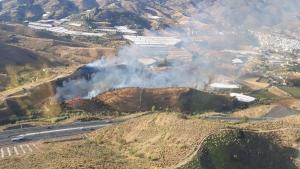 Imagen aérea del incendio.