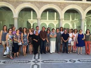 Colectivos de mujeres, en la sede provincial del Gobierno autónomo.