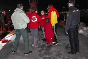 Entre las personas rescatadas había dos menores.