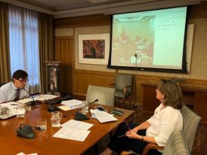 Los ministros Salvador Illa y Teresa Ribera en una reunión con la Comunidad de Madrid.