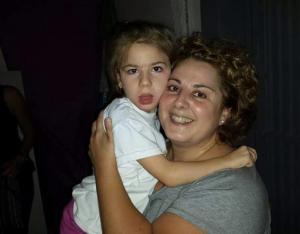 Lucía y su madre.