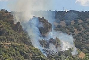 Imagen del incendio en Montefrío.