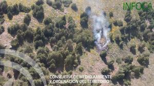 El incendio se ha declarado poco antes de las 17.30 horas.