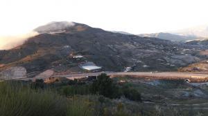 Zona afectada por los incendios.