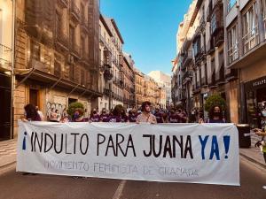 Imagen de una reciente manifestación para reclamar el indulto para Juana.