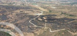 Imagen de parte de la zona afectada, cerca del casco urbano.