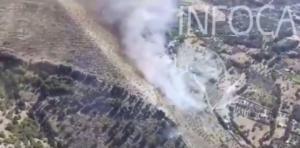 Imagen del incendio extraída de un video del Infoca.