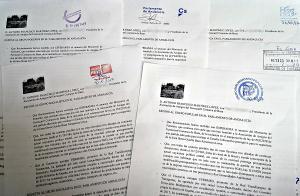 Detalle de los escritos registrados en el Parlamento.