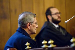 El padre Román, durante la primera sesión del juicio.