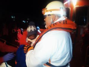 Uno de los menores rescatados.