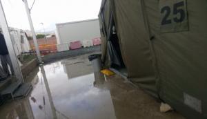 Imagen del campamento anegado.