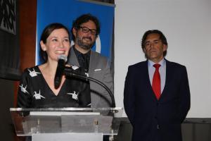 Nuria Luque, en la entrega del premio.