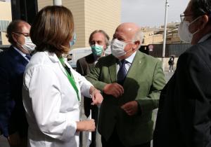 Jesús Aguirre, a su llegada al centro de salud del Zaidín.